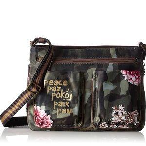 Desigual Women's Bols_baqueira Militar Floral bag